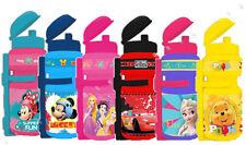 Disney FROZEN PRINCESS MINNIE MICKEY CARS Bike Cycle Water Bottle Drinks 350 ml