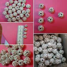 Black Silver Shank Buttons Plastic Shiny Diamond 34L 21.5mm BU056-10 Pack