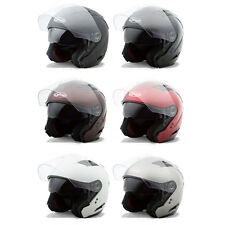 Gmax Adult OF77 Solid Open Face 3/4 Motorcycle Street Helmet - Pick Size & Color