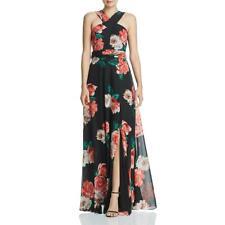 Laundry by Shelli Segal Womens Floral Chiffon Gown Maxi Dress BHFO 4141