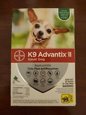 K9 Advantix II Flea and Tick Treatment for Small Dogs, 6 Monthly Treatments