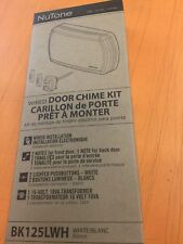 NuTone Bk142Lwh Wired Door Chime Kit Nib