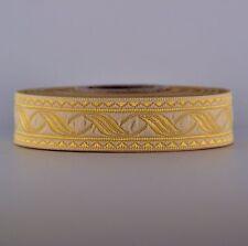 10m BORTE 19MM BREIT 19014 BEIGE-GOLD MITTELALTER BORTEN LARP 0,64€/m