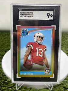 POP 1 2018 Optic Christian Kirk Rated Rookie RED YELLOW PRIZM Cardinals SGC 9🔥