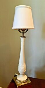 Lenox Brass And Ivory Porcelain Table Lamp - Works - Beautiful Dainty