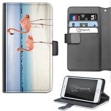 Pink Flamingo PU Leather Phone Case, Wallet Phone Cover, Flip Case