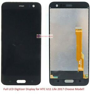 Full LCD Digitizer Glass Screen Display replacement Part for HTC  U11 Life 2017