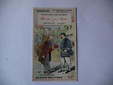 CHROMO PUBLICITAIRE CHOCOLAT GUERIN-BOUTRON N°186 GRAPHOLOGIE