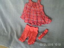 Baby Girls 18 Months- Bright Pink Sleeveless Tunic/Leggings/Hairband Vertbaudet