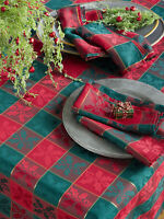 Fennco Styles Holiday Royal de Noël Collection Classic Plaid Jacquard Table Line