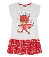 Girls  Pj Masks Short Sleeve Dress | Grey & Red Owlette Dress