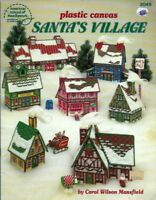 Christmas Village in Plastic Canvas ASN 3049 Vintage North Pole Houses & More