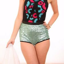 River Island faux leather sequin hot pants size 6 - clubbing summer beach wear