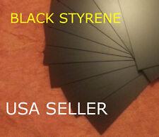 BLACK STYRENE SHEETS (5) .040 (1.0 MM) POLYSTYRENE 0.04 .04 Model grade