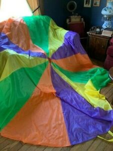 Kids Child Play Rainbow Parachute Outdoor Game Family Exercise Sport Toy Gift