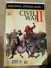 Civil War II Amazing Spider-Man #1 (1st Print Regular Cover) 2016 bagged boarded