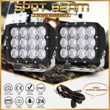New Cree 7INCH LED Work Lights Square Black Spot Beam SUV Truck Offroad ATV Jeep