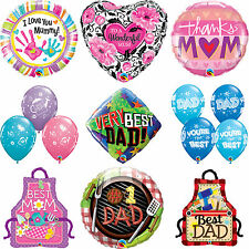 Adulte Anniversaire - Maman & Papa qualatex Fête Latex, Bulle & Feuille Ballons