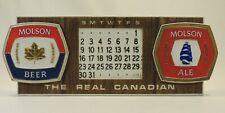 VTG Plastic Advertising Molson Canada Beer Canadian Calendar Adjustable HTF Sign