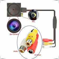 1000TVL mini spy cctv caméra cachée intérieure de sécurité audio video hd surveillance