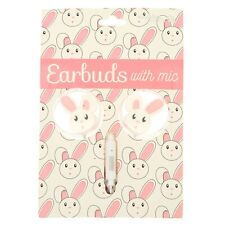 Gabba Goods Bunny Silicone Earbuds With Mic 3.5mm NEW emoji claire's