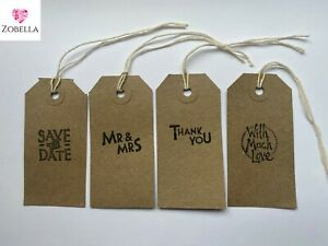 Wedding Favour Gift Tags, Packs 10, Vintage, Various Designs, Multi-buy Discount