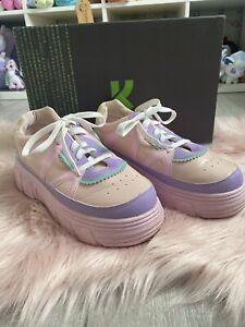 Koi Footwear Size 7 Aiya Kawaii Platform Pastel Trainers Shoes