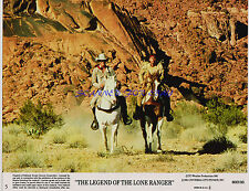 LEGEND OF THE LONE RANGER TWO ORIG 1980 8X10S KLINTON SPILSBURY JASON ROBARDS