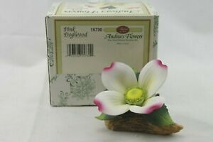 Andreas Flowers Pink Dogwood Andrea by Sadek Hand Painted Porcelain Box
