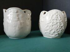 Lot 2 Lenox Merry Lights Santa Ceramic Votive Tea Light Candle Holders msrp$20ea