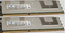 2 Mémoires Ram Samsung pour serveur DDR3  1333mhz 10600r 4gb ecc registered cl9