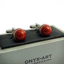 Cricket Ball Novelty Cufflinks by Onyx Art New Boxed