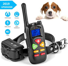 Dog Training Collar With Remote Electric Pet No Bark Shock Collar Waterproof