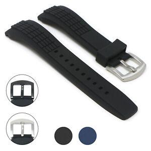 StrapsCo Silicone Rubber Watch Band Strap for Seiko Velatura