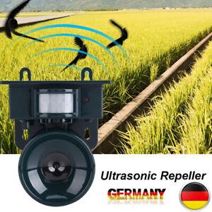 Ultraschall Solar Tiervertreiber Vogelabwehr Vogelschreck Gartenschutz Repeller
