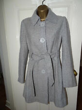 Jane Norman Grey Button Up Wool Coat UK 8 - Excellent Condition - RRP £85