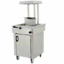 More details for new chip scuttle on wheels with heat lights / bottom heat and storage cupboard