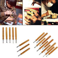 Wood Handle Mini Carving Chisels Tool Kit Carpenters DIY Handy Tools Set