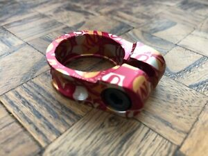 S&M Xlt Seat Clamp Shield Wrap Gold/Red 28.6mm I.D. For 25.4mm Seatpost