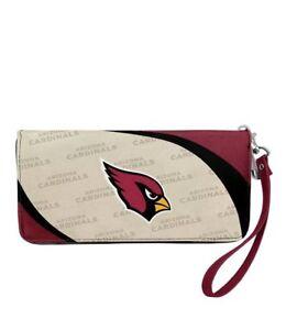 Arizona Cardinals NFL Women's Curve Zip Organizer Wallet / Purse