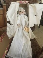 """Vintage 1984 Victoria Impex Corporation Porcelain Baby Doll with the tag 15"""""""