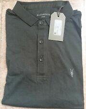 All Saints Polo T-Shirt short sleeve Size Large Shade Green RRP £35.00 #371