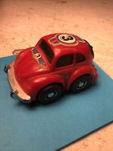 Red VW Bug Beetle Nomura Toy Friction Car Plastic Made Japan Rare Vintage Runs