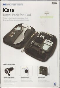 MONSTER iCase Travel Pack for iPod w/Accessories & Original Box