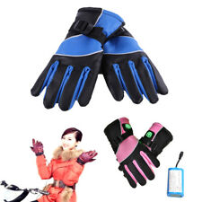 Outdoor Motorbike Motorcycle Heated Gloves Warm Waterproof Battery Electric New