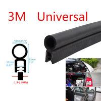 Black Car Auto Door Antiscratch Soundproof Edge Seal Strip O U Type Rubber Trim