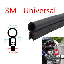Black Car Auto Door Antiscratch Soundproof Edge Seal Strip O U Type Rubber Trim