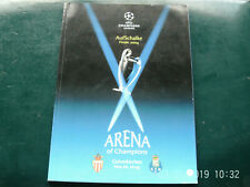 PROGRAMME UEFA  FOOTBALL  AS MONACO//FC PORTO FINALE CHAMPIONS LEAGUE 2004