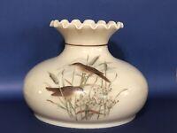 "Vintage 10"" Aladdin Wild Bird Tam-O-Shanter A Hurricane Oil Glass Lamp Shade"