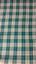 Vintage Homespun Fabric Green By The Yard